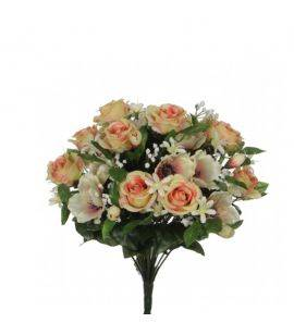 Buchet flori artificiale Rose Anemone Peach