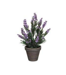 Floare artificiala in ghiveci - Lavanda H 33 cm